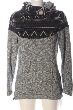 Ragwear Turtleneck Sweater light grey graphic pattern casual look