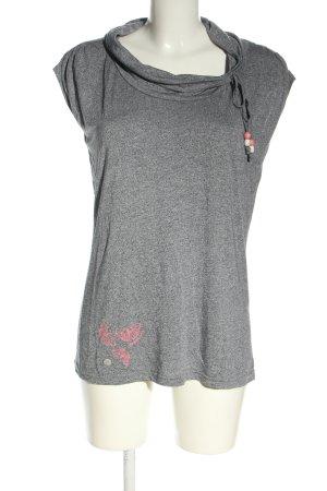 Ragwear Maglia a collo alto grigio chiaro puntinato stile casual