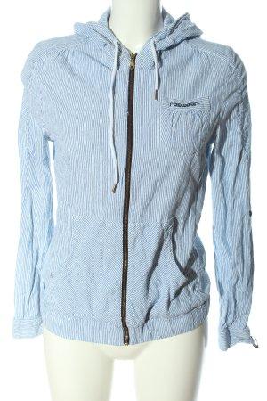 Ragwear Shirtjacke blau-weiß Allover-Druck Casual-Look