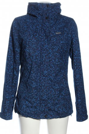 Ragwear Sportjacke blau-schwarz abstraktes Muster Casual-Look