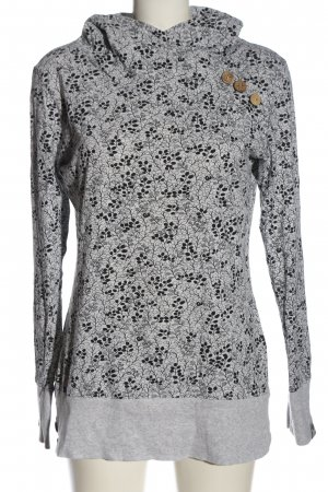 Ragwear Sweat Shirt light grey-black themed print casual look