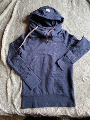 Ragwear Sweatshirt mit Rollkragen und Kapuze