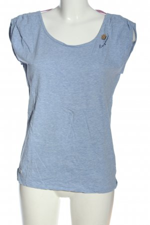 Ragwear U-Boot-Shirt blau meliert Casual-Look