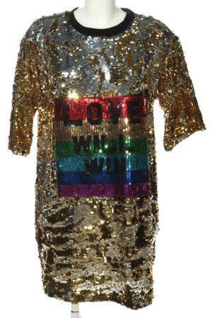 RAGYARD Sequin Dress themed print glittery