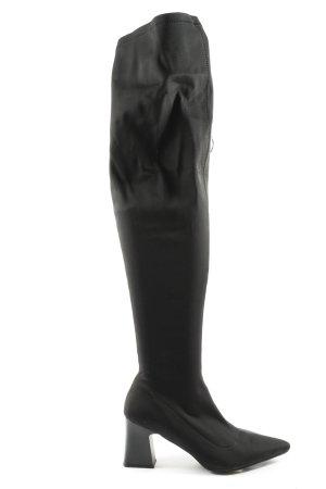 RAID Buty nad kolano czarny W stylu casual