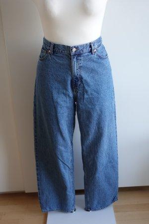 Weekday Jeans a vita alta blu acciaio Cotone