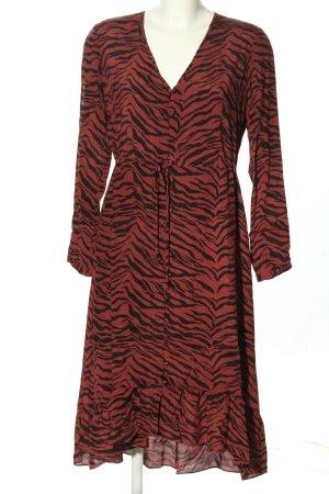 Rails Abito blusa rosso-nero motivo animale stile casual