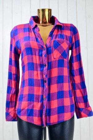 Rails Houthakkershemd rood-blauw Rayon