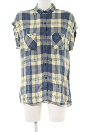 Rails Shirt met korte mouwen blauw-sleutelbloem volledige print