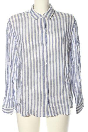 Rails Langarmhemd blau-weiß Streifenmuster Casual-Look