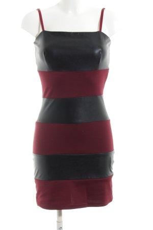Rainbow Abendkleid schwarz-rot Streifenmuster Party-Look