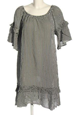 Rainbow Blusenkleid schwarz-weiß Allover-Druck Casual-Look