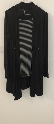 Rainbow Cardigan Kleid S schwarz grau