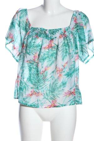Rainbow Carmen shirt volledige print casual uitstraling