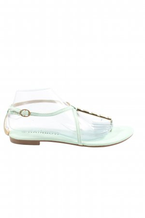 Rainbow Dianette sandalen turkoois-goud casual uitstraling