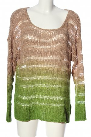 Rainbow Gehaakte trui bruin-groen kleurverloop casual uitstraling