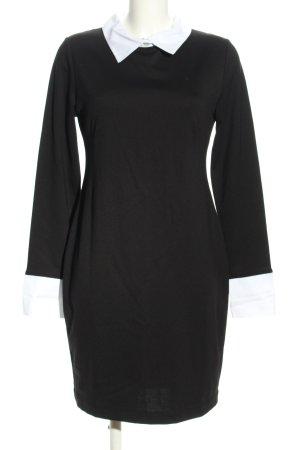 Rainbow Vestido tipo blusón negro-blanco estilo «business»