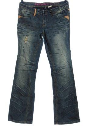 Rainbow Jeansy biodrówki niebieski W stylu casual