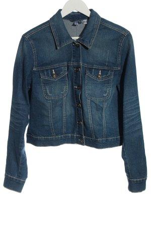 Rainbow Denim Jacket blue casual look