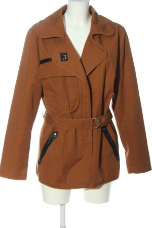 Rainbow Denim Jacket brown casual look