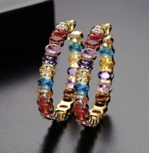 Pessina-Jewelry Ear Hoops multicolored