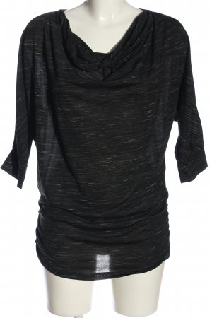 Rainbow Kurzarm-Bluse schwarz-weiß meliert Casual-Look
