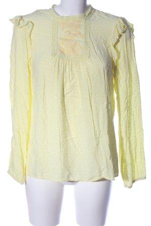 Rainbow Langarm-Bluse blassgelb Casual-Look