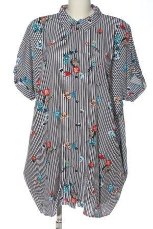 Rainbow Long Blouse flower pattern casual look