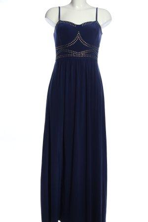Rainbow Maxi Dress blue flecked elegant