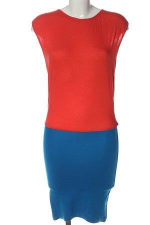 Rainbow Midikleid blau-rot Casual-Look