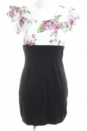 Rainbow Minikleid Blumenmuster Casual-Look