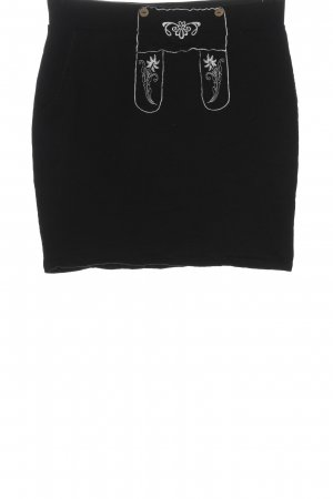 Rainbow Minirock schwarz-weiß Motivdruck Casual-Look