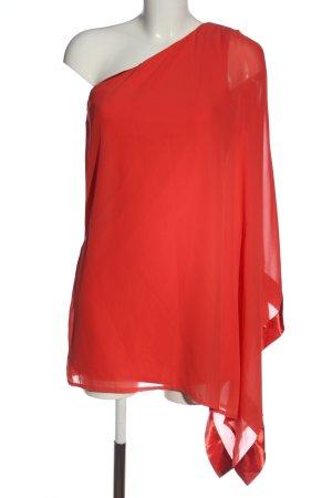 Rainbow Vestido de un hombro rojo elegante