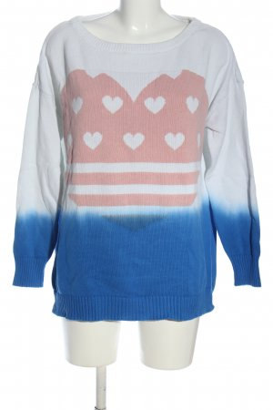 Rainbow Oversized Pullover Motivdruck Casual-Look
