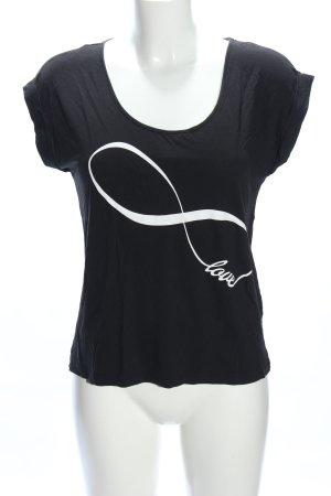 Rainbow Shirt met print zwart-wit prints met een thema casual uitstraling