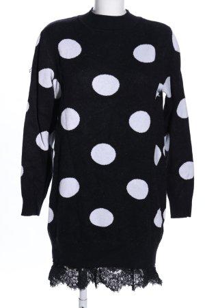 Rainbow Pulloverkleid schwarz-weiß Allover-Druck Casual-Look