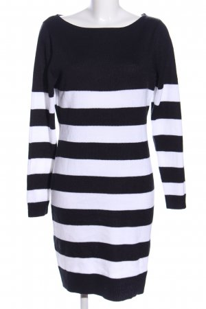 Rainbow Sweater Dress black-white striped pattern casual look