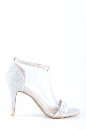 Rainbow Strapped High-Heeled Sandals white elegant