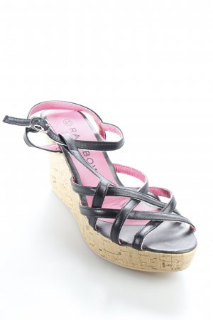 Rainbow Riemchen-Sandaletten schwarz Elegant