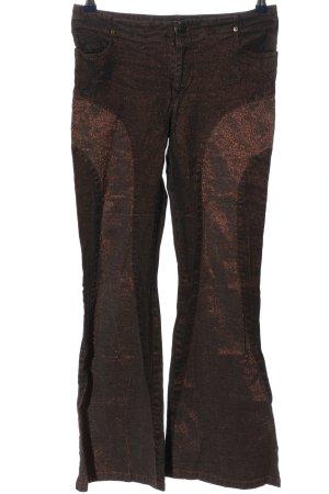 Rainbow Pantalón de campana marrón estilo extravagante
