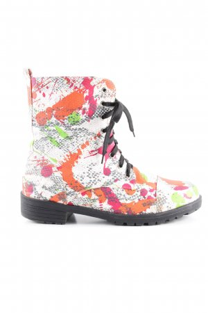 Rainbow Schnürstiefel Allover-Druck Casual-Look