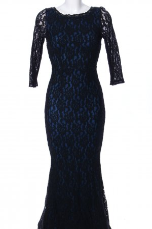 Rainbow Lace Dress blue-black elegant