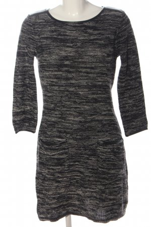 Rainbow Knitted Dress black-natural white flecked casual look