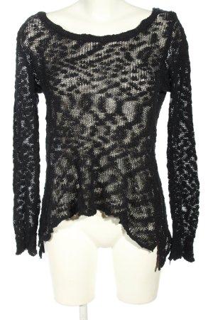 Rainbow Camicia maglia nero modello web stile casual
