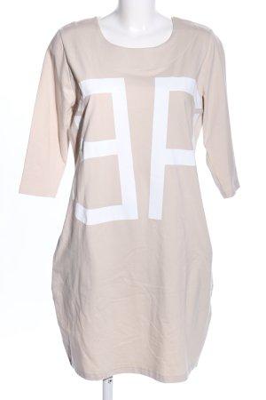 Rainbow Sweatkleid wollweiß-weiß Schriftzug gedruckt Casual-Look