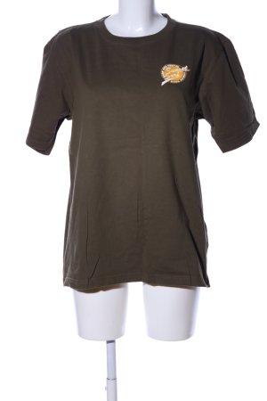 Rainbow T-Shirt khaki Motivdruck Casual-Look