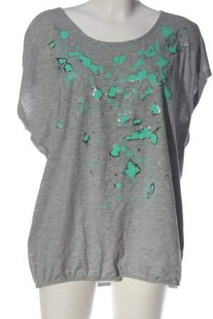 Rainbow T-Shirt hellgrau-türkis abstraktes Muster Casual-Look