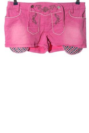 Rainbow Tradycyjne spodnie różowy Wzór w kratkę W stylu casual