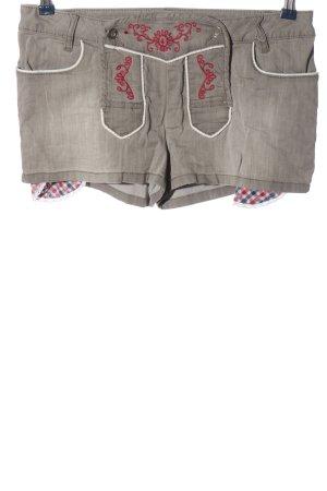 Rainbow Tradycyjne spodnie jasnoszary-czerwony W stylu casual