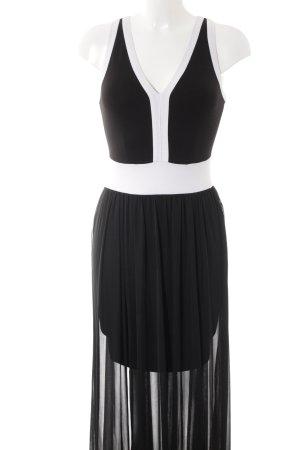 Rainbow Trägerkleid schwarz-weiß Casual-Look
